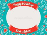 Riversongs Birthday Cards Template for Greeting Card or Invitation Stock Vector