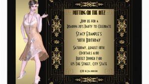 Roaring 20s Birthday Invitations Art Deco Roaring 20 39 S Birthday Party 5×7 Paper Invitation