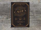 Roaring 20s Birthday Invitations Items Similar to Roaring 20s Birthday Invitation 1920s