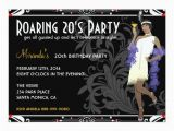 Roaring 20s Birthday Invitations Personalized Roaring 20s Invitations Custominvitations4u Com