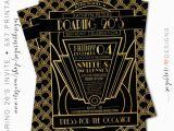 Roaring 20s Birthday Invitations Roaring 20 39 S Invitation Great Gatsby Party Invitation