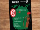 Robin Hood Birthday Party Invitations Bow and Arrow Robin Hood forest Party Invitation