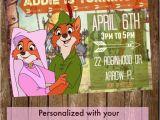 Robin Hood Birthday Party Invitations Robin Hood Maid Marian Disney 5×7 Printable by