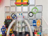 Robot Birthday Decorations Kara 39 S Party Ideas Colorful Robot Birthday Party Kara 39 S