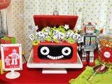 Robot Birthday Decorations Robot Rockets Birthday Party Design Dazzle