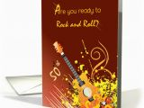 Rock and Roll Birthday Cards Free 50th Birthday Invitation Rock Roll Card 1291590
