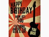 Rock and Roll Birthday Cards Rock and Roll Grunge Birthday Card Zazzle Ca