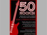 Rock and Roll Birthday Invitations 50th Birthday Rock N 39 Roll Party Invitation