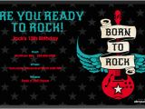 Rock and Roll Birthday Invitations Free Printable Rock and Roll Birthday Invitations Template