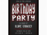 Rock and Roll Birthday Invitations Personalized Rock N Roll Invitations Custominvitations4u Com