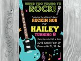 Rock and Roll Birthday Invitations Rock and Roll Birthday Invitation Rock and Roll Birthday