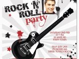 Rock and Roll Birthday Invitations Rock and Roll Birthday Invitations Drevio Invitations Design