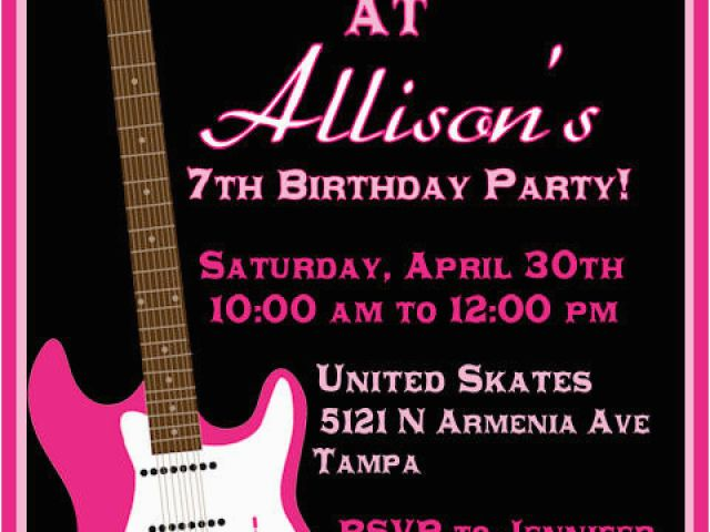 Download By SizeHandphone Tablet Desktop Original Size Back To Rock And Roll Birthday Invitations