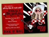 Rock and Roll Birthday Invitations Rock and Roll Birthday Invitations You Print