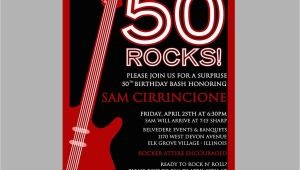 Rock N Roll Birthday Invitations 50th Birthday Rock N 39 Roll Party Invitation