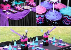 Rock Star Birthday Party Decorations Party Ideas for Girls the Crafting Chicks