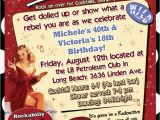 Rockabilly Birthday Invitations 17 Best Ideas About Retro Birthday Parties On Pinterest