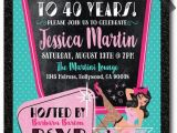 Rockabilly Birthday Invitations 23 Best Images About 40th Birthday Invitation Ideas On
