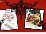 Rockabilly Birthday Invitations Cu1056 Rockabilly Birthday Invitation Ladies Birthday