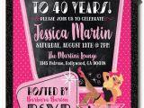 Rockabilly Birthday Invitations Pin Up Girl Rockabilly 40th Birthday Party Invitations Di