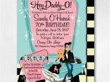 Rockabilly Birthday Invitations Retro 1950s Birthday Party 50s Rockabilly Invites Grease