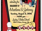Rockabilly Birthday Invitations Rockabilly 1950 39 S Retro Bowling Engagement Party