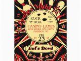 Rockabilly Birthday Invitations Rockabilly Ladies Party Bowling Invitation 13 Cm X 18 Cm