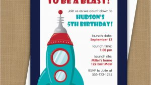 Rocket Ship Birthday Invitations Space Birthday Invitation Rocket Ship Invitation