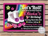 Roller Skating Birthday Invitations Templates Roller Skating Birthday Invitation Free Template