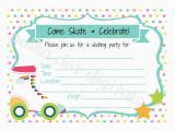 Roller Skating Birthday Invitations Templates Roller Skating Party Invitation Template Items Similar to
