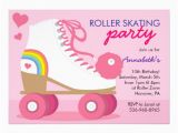Roller Skating Birthday Invitations Templates Roller Skating Party Invitation Template Party