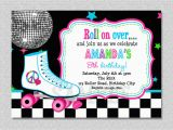 Roller Skating Birthday Invitations Templates Skating Party Invitations Party Invitations Templates