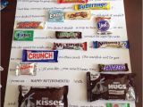 Romantic Birthday Gifts for Him south Africa Candy Bar Poster Ideas with Clever Sayings