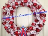 Romantic Birthday Ideas for Him Los Angeles Los Angeles Angels Of Anaheim Baseball Ribbon Wreath