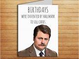 Ron Swanson Birthday Memes Ron Swanson Birthday Card Printable Funny Greeting Card Parks