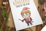 Ron Weasley Birthday Card Ron Weasley Card Harry Potter Greeting Card Hermione