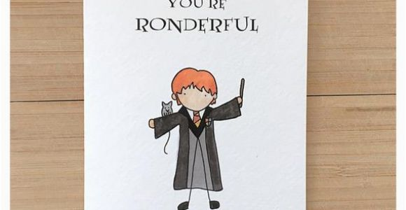 Ron Weasley Birthday Card Ron Weasley Greeting Card Harry Potter Harry Potter