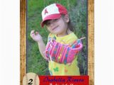 Rookie Of the Year 1st Birthday Invitations Baseball Rookie Card Birthday Invite Zazzle