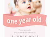 Rookie Of the Year 1st Birthday Invitations Pink Ribbon Free Birthday Invitation Template