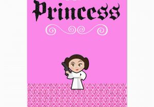 Roots Birthday Girl Star Wars Princess Leia Awesome Girl Birthday Card