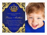 Royal Birthday Invitation Card Royal Blue Gold Prince Birthday Party Invitations Zazzle