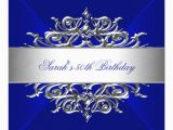 Royal Birthday Invitation Card Royal Blue On Silver 50th Birthday Party Card Zazzle Com