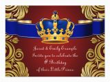 Royal Birthday Invitation Card Royal Crown Prince Birthday Party Card Zazzle Ca