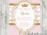 Royal Birthday Invitation Card Royal Princess Party Invitation Pink Personalized