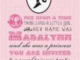Royal Birthday Party Invitation Wording A Royal Princess Birthday Invitation Printable
