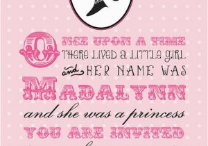 Royal Birthday Party Invitation Wording A Royal Princess Birthday Invitation Printable