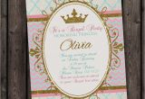 Royal Birthday Party Invitation Wording Princess Invitation Royal Party Gold Elegant with Free