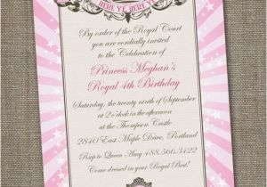 Royal Birthday Party Invitation Wording Royal Princess Tiara Printable Birthday Invitation