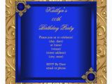 Royal Blue and Gold Birthday Invitations Elegant Birthday Party Royal Blue Damask Gold 5 25 Quot Square
