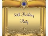 Royal Blue and Gold Birthday Invitations Elegant Royal Blue and Gold 50th Birthday Party Invitation